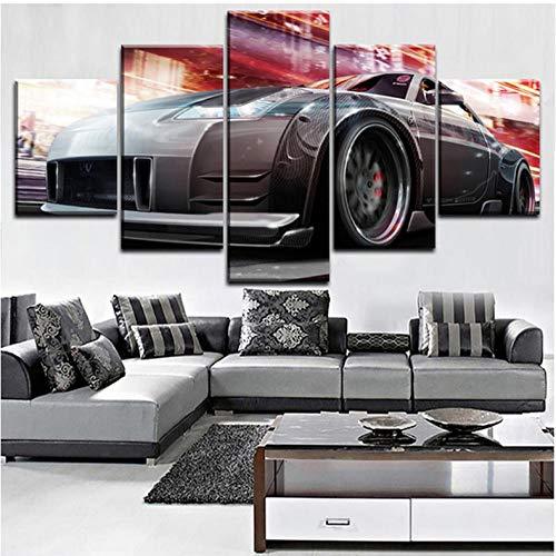 Modulare Leinwand Poster Gedruckt HD 5 Satz Moderne Nissa Tuning Auto Wandbild Home Decoration Für Wohnzimmer Rahmen Geschenke Malerei