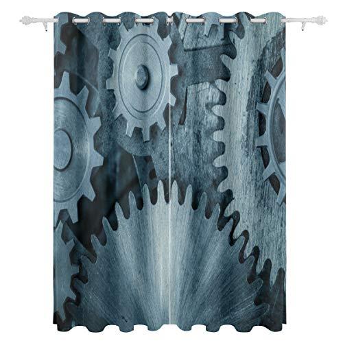 AGIRL Schöner geschichteter Motor-Gang-dekorativer hängender Platten-Satz des hängenden 2 druckte Blackout-Vorhänge für Schlafzimmer-Wohnzimmer-Esszimmer-Fenster drapiert 54x84 Zoll-Vorhang