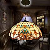 GENERIC B30cm : Tiffany Baroque Stained Glass Suspended Luminaire E27 110-240V Chain Pendant lights Lighting Lamps for Home Parlor Dining Room