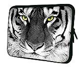 Luxburg NEU DESIGN Neopren Sleeve Soft Case Tasche für 15Zoll Notebook/Laptop/Tablet-Weiß Tiger