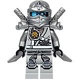 LEGO Ninjago Minifigur TITANIUM ZANE Silberner Ninja 70748 Titandrache