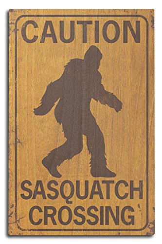 tch Crossing Sign, Holz, Mehrfarbig, 10 x 15 Wood Sign ()