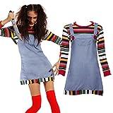 Maboobie - Disfraz de Chucky para Mujer Adulto Dress Fiesta Temática Carnaval Halloween