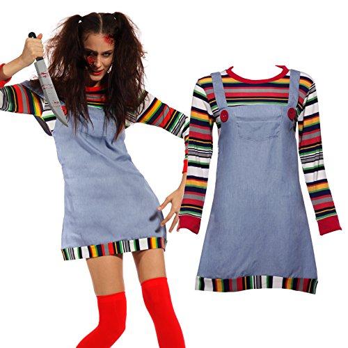 Maboobie - Disfraz Chucky Mujer Adulto Dress Fiesta
