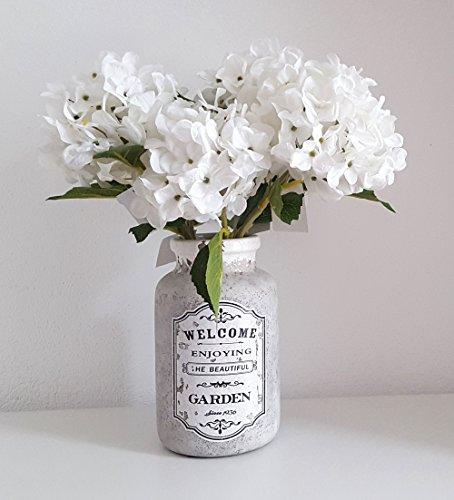 Blumenvase Vase VINTAGE Keramik 21cm hoch gross Antik Deko - IT -