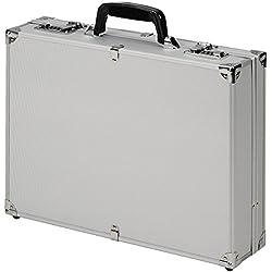 Aktenkoffer Attaché Koffer Alu Aluminium Zahlenschloss Silber