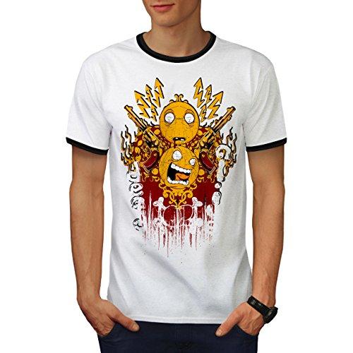 Tot Oder Am Leben Gewehr Horror Smiley Gewehr Herren M Ringer T-shirt | Wellcoda