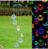 Starworld Wind Chime LED Solar Light, Waterproof Chime Light with 6 Shell Shape for Window, Garden, Patio Illumination and Decoration (Colourful Light)