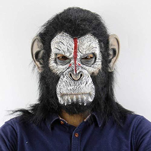 Kostüm Monkey King - Zleimjab Planet der Affen Halloween Cosplay Gorilla Maskerade Maske Monkey King Kostüme Caps Realistische Monkey Mask Unterhaltung