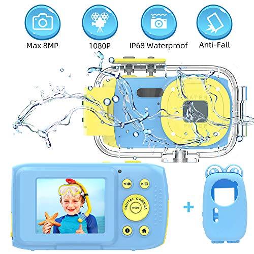 Appareil Photo Enfants Appareil Photo Etanche Full HD 1080P Appareil Photo Enfant 2,0 Pouces TFT HD Écran Appareil Photo Etanche Enfant