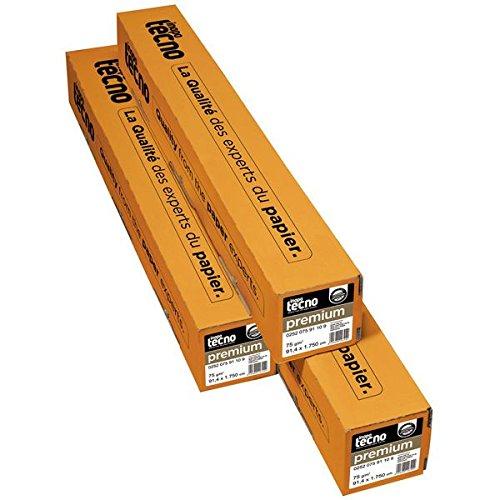 Inapa tecno 0252 075 91 10 9 Speed Opake Papier für Großformatkopierer, 75 g/qm, Kern, Dürchmesser 7,50 cm, 1 Rolle, 914 mm x 175 m