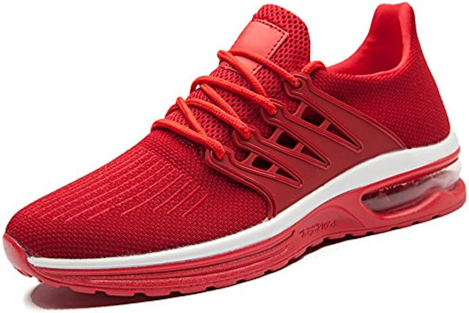 Toptak Herren Low Top Laufschuhe Athletic Walking Sport Fitness Schuhe Rot
