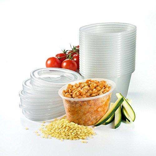 Babypotz - 20 Stück , 180ml, ohne BPA , Mehrwegtransportbehälter für Babynahrung , Tiefkühl fit