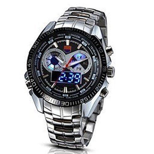 TVG new men's Luminox multifunction sports watch 100 m water resistant quartz Led double display luminous watch