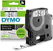 DYMO D1-etiketten zelfklevend (zwarte print op witte ondergrond, 12 mm x 7 m, voor LabelManager-etikettenprint
