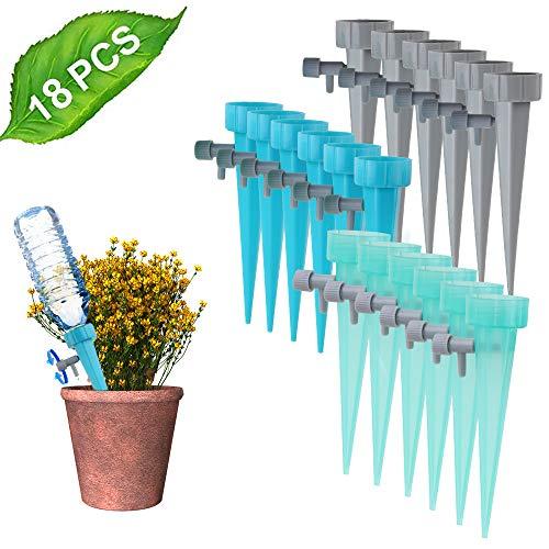 Anpro Automatisch Bewässerung Set, 18 Stück Selbstbewässerung Einstellbar Bewässerungssystem Garten zur Pflanzen Bewässerung, Bewässerungsgeräte mit Steuerventilschalter für Urlaubspflanzen