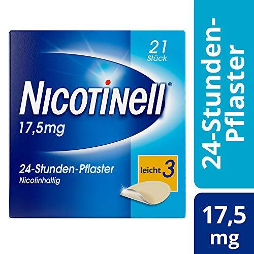 Nicotinell 17,5 mg / 24-Stunden- Nikotinpflaster, 21 St.: Pflasterstärke Leicht (3) – Das Nicotinell Nikotinpflaster mit der Steady-Flow Technologie hilft, das Rauchverlangen für 24 Stunden zu lindern