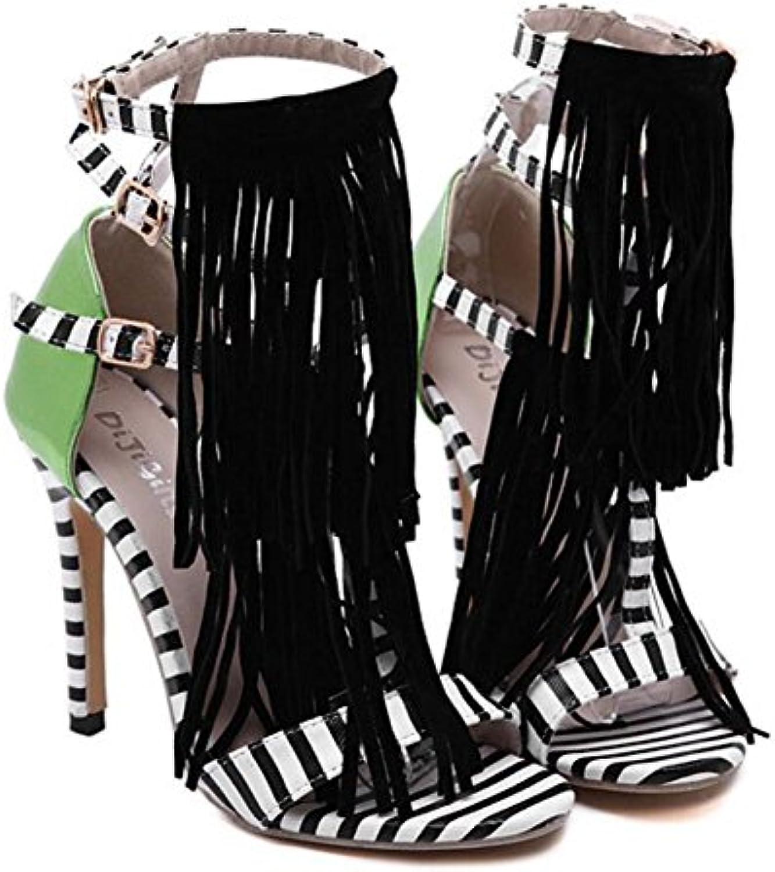 des chaussures de femmes pu pu pu été gaolixia wild talons couleur tassel sandales partie & soir b07bxct4dz parent | Simple D'utilisation  f6e841