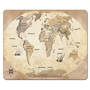 Mapas – Mapa del Mundo, Edición 2011, Estilo Vintage, En Inglés Alfombrilla para Ratón (23 x 19cm)