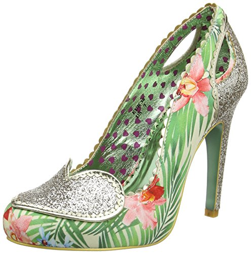 Poetic Licence by Irregular Choice Women's Loren Love Closed-Toe Pumps, Multicolour (Gold Multi), 6.5 UK 40 EU