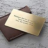 Personalised Metal Wallet Insert Card