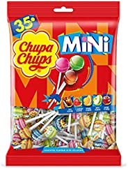 CHUPA CHUPS Mini Lollipops Bag - Mini Version Of Classic Chupa Chups Candy - The Perfect Miniature Treat - Bag