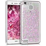 kwmobile Funda para Huawei GR3 / P8 Lite SMART - Case para móvil de TPU silicona - Cover trasero en rosa fucsia transparente