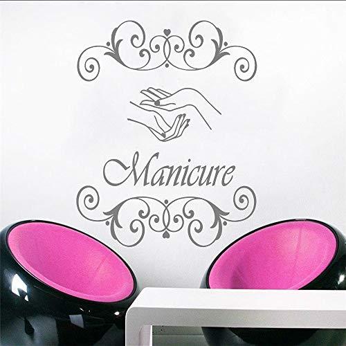 Wuyyii 42X53 Cm Neu Wandtattoo Maniküre Vinyl Aufkleber Hand Beauty Salon Wand Fenster Dekor Nägel Kosmetik Friseur Mode Zeichen Wandbild B