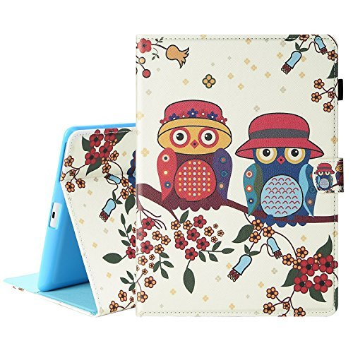 Ipad Guard Bumper (Hülle iPad 2/3/4, TOROTON Smart Case Schale Cover Bumper Slim Fit Guard Anti-Scratch Weichen Stoßfänger Mit Schließen Magnetische Unterstützung Automatischer Standby-Modus für Apple iPad 2/3/4 (Owl))