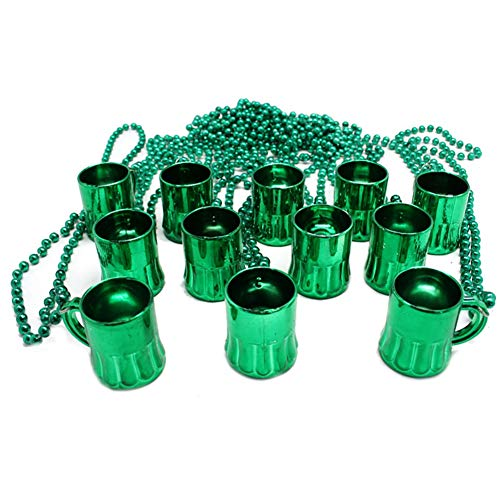 trick es Day, St Patrick Day Mini Beer Mug Pendant Pendant Bead Chain Chain Party Schmuck Decor ()
