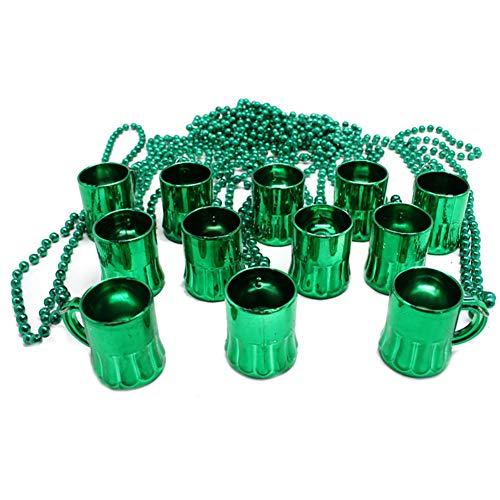 CAheadY St Patrick Day Mini Bierkrug Anhänger Perlenkette Halskette Party Schmuck Dekor Geschenk