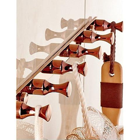 Rosa neoclassico finitura oro ottone montato a parete Robe ganci