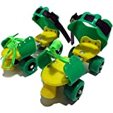 #7: Luxafare pro lite Roller Skates Shoes for Kids (Green)