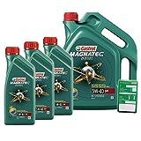 3x 1 L + 5 L = 8 Liter Castrol Magnatec Diesel 5W-40 DPF Motor-Öl inkl. Ölwechsel-Anhänger