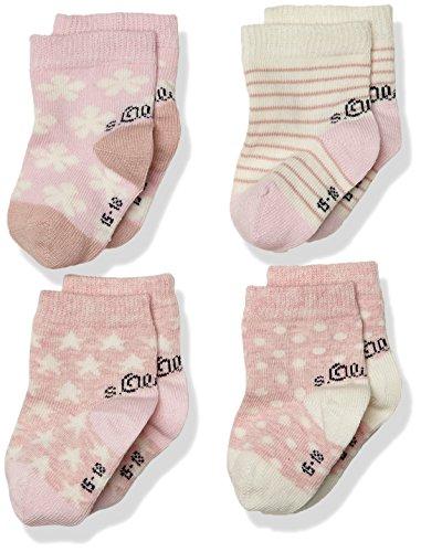 s.Oliver Socks Baby-Mädchen Fashion 4p, 4er Pack, Rosa (Rosé 12), 19-22 (19/22)