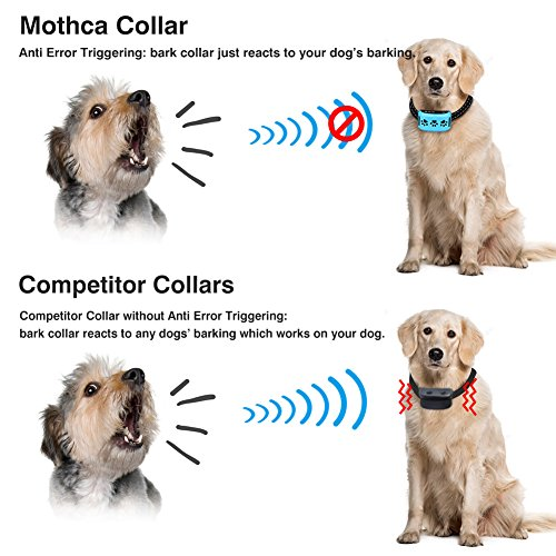 Mothca-Bark-Collar-Rechargeable-Anti-Error-Triggering-No-Barking-Dog-Control-Training-Collar-Beep-Vibration-Anti-Bark-Rainproof-Collar-with-Adjustable-Reflective-Strip-for-Small-Medium-Large-Dogs