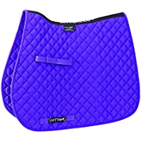 Cottage Craft Classic High Wither GP Saddle - Sudadero completo para caballo, color morado, talla Pony