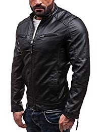 BOLF - Veste - Faux cuir - Fermeture éclair – GANEDER 8001 – Homme
