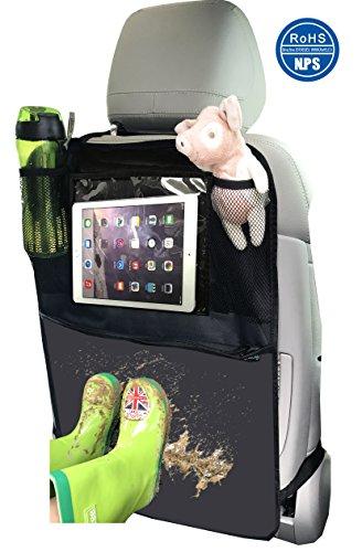 Organisateurs de Voiture Kick Mats, Protection Arrière de Siège Auto avec Support iPad Transparent par Termichy Matériau Imperméable à l'eau(1 paquet)