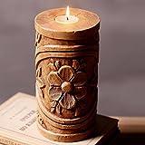 Creative Home Furnishing decoraciones, tocón de madera adornos candelabro de resina