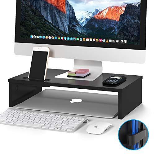 supporto per PC o notebook in legno nero