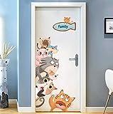 Wandaufkleber Schlafzimmer-Tapete selbstklebende Gemälde Kinderzimmer Wanddekorationen Schlafsaal Wand Cartoon Wand einfügen