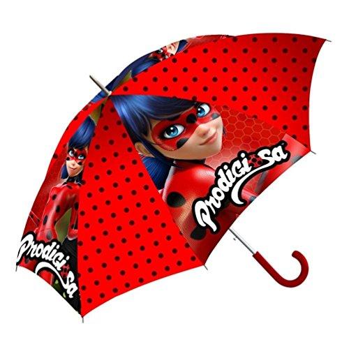 ZAG miraculous Ladybug- Kinderschirm/ Regenschirm / Stockschirm für Kinder - robust, windfest , sicher