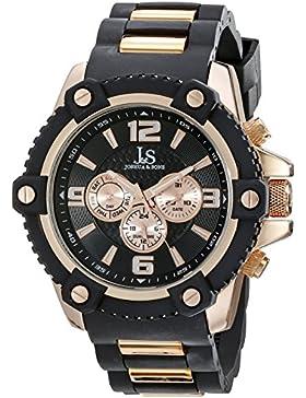 Joshua & Sons Herren Analog Display Swiss Quartz Black Watch