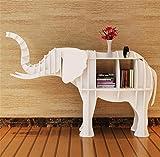 Kitzen Creative-Regal Regal Elefant-Tier Modellierung Regal Tabelle Hotel Store Art Deco Art Fenster Boden Dekoration Größe frei wählbar, White, 177 * 52 * 120cm Tuba Gute Qualität
