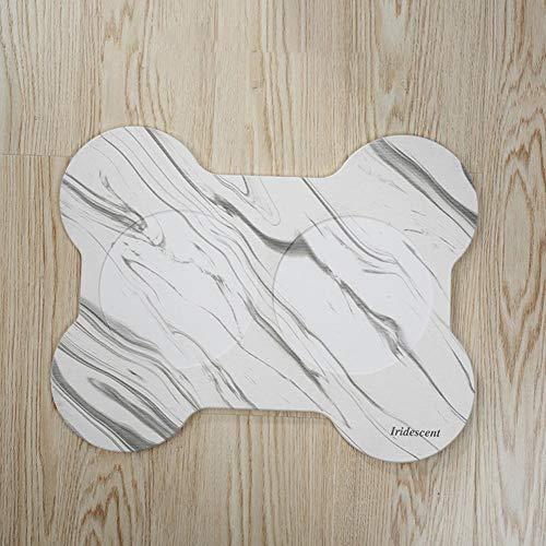 chenut Kieselgur Tiernahrung Schüssel Matte Wasser absorbierende rutschfeste Anti-Splash-Food Tray Pad Tischset Fashion