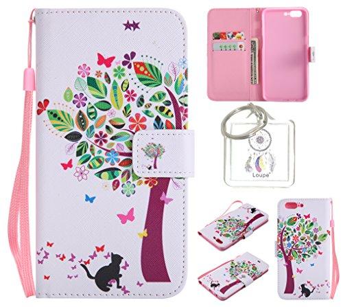 Preisvergleich Produktbild für One plus 5 PU Wallet Case Schutz Hülle für One plus 5 - Cover Flip Tasche mit Kartenfach in Buch Stil mit Kartenfach Standfunktion Magnetverschluss und Hand Wrist +Schlüsselanhänger (O) (14)
