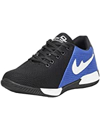 Emosis Stylish White Black Blue Grey Red In Color Casual Sports Mesh Lace-up Derby Shoes For Men