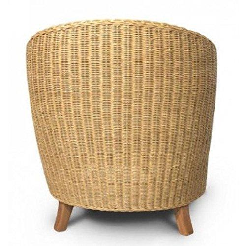 rattansessel bari natur inklusive sitzkissen korbsessel entspannter alltag. Black Bedroom Furniture Sets. Home Design Ideas