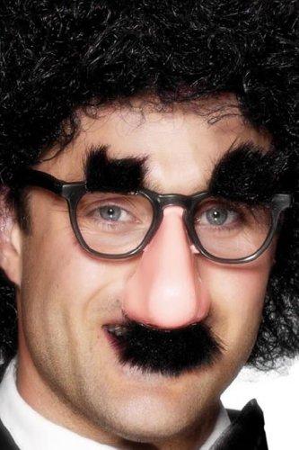 Smiffy's - Brille mit Nase Bart Augenbrauen Lustig Scherzartikel